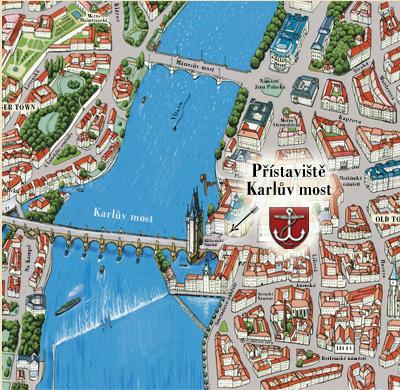 Mapa přístaviště Karlův most
